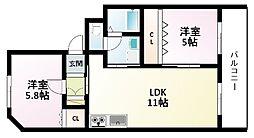 光陽マンション[2階]の間取り