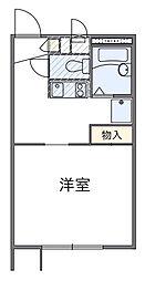千葉県袖ケ浦市蔵波台2丁目の賃貸アパートの間取り