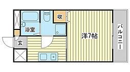サンワプラザ福崎II[206号室]の間取り