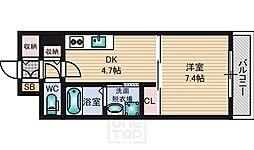 バーゼル江坂[5階]の間取り