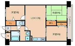 兵庫県神戸市長田区滝谷町1丁目の賃貸マンションの間取り