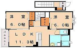 デュオープKATO2[2階]の間取り