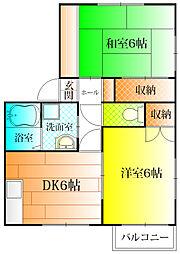 ドミール島泉[2階]の間取り