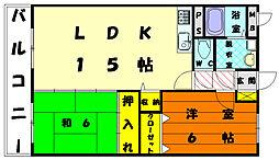 エスポワール21[6階]の間取り