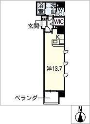 仮)則武二丁目マンション[8階]の間取り