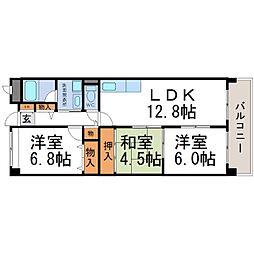 兵庫県尼崎市稲葉荘2丁目の賃貸マンションの間取り