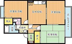 グランドゥールN B棟[1階]の間取り