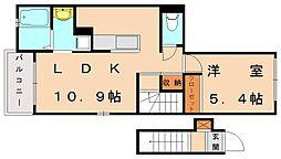 アミティエ・デ・キンラン[2階]の間取り