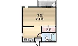 エミネンス阿倍野[306号室]の間取り