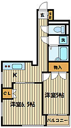 第1コーポレイトハウスセンチュリー[2階]の間取り