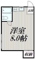 東京都品川区大崎3丁目の賃貸アパートの間取り