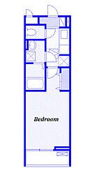 JR高崎線 上尾駅 徒歩15分の賃貸アパート 2階1Kの間取り