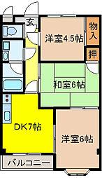 メゾンドールヤマヒデ弐番館[3階]の間取り