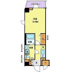 都営三田線 白山駅 徒歩8分の賃貸マンション 2階1Kの間取り