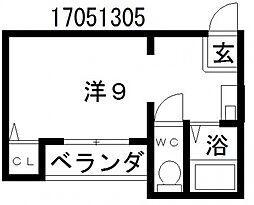 ラシャンブル[3階]の間取り