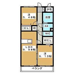 ジュールフェリエ[1階]の間取り