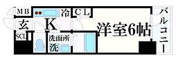 JR東海道・山陽本線 神戸駅 徒歩5分の賃貸マンション 5階1Kの間取り