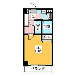 ヤマトマンション春田野[3階]の間取り