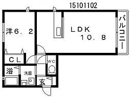 シャーメゾンアンビシア[2階]の間取り