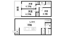 [一戸建] 兵庫県神戸市長田区片山町3丁目 の賃貸【/】の間取り