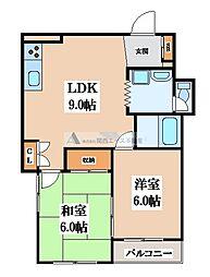 パークサイド福岡[2階]の間取り