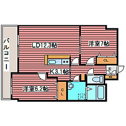 ヴィラ福住[11階]の間取り
