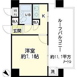 プラザ川崎NO.2[7階]の間取り