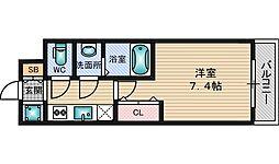 W−STYLE新大阪[8階]の間取り