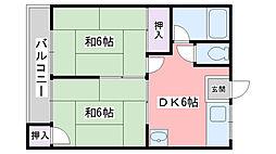 福岡県糸島市波多江駅北2丁目の賃貸アパートの間取り