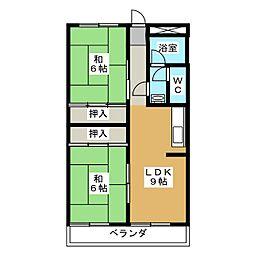 第3日置ビル[3階]の間取り