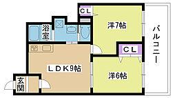 コスモハイツセブン[106号室]の間取り