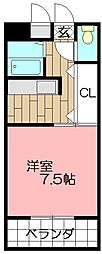 ピュアシティ小倉[402号室]の間取り