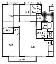 クレスト安室[2階]の間取り