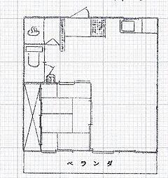 石川ビル[403号室号室]の間取り
