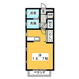 清風荘[1階]の間取り