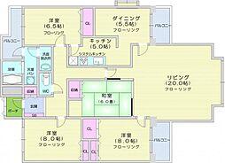 JR仙山線 北仙台駅 徒歩12分の賃貸マンション 4階4LDKの間取り