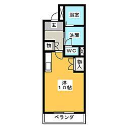 ドマーニYO[3階]の間取り