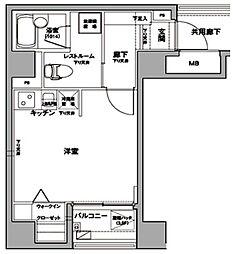 東京都台東区台東2丁目の賃貸マンションの間取り