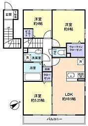 mahalo[2階]の間取り