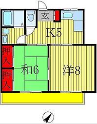 篠田第一ニューハイツ[1階]の間取り