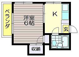 谷口アパート[201号室]の間取り