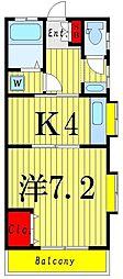 ドルチェ南綾瀬III[2階]の間取り