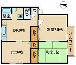 山陽電鉄本線 伊保駅 徒歩8分の賃貸アパート 1階3DKの間取り