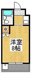 京都府京都市伏見区深草飯食町の賃貸マンションの間取り