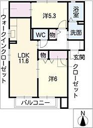 インフィニII[2階]の間取り