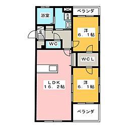 インテグラD[3階]の間取り