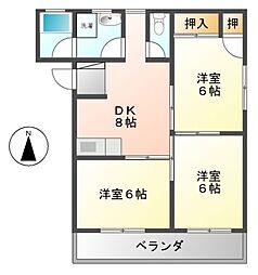 愛知県名古屋市中村区向島町2丁目の賃貸マンションの間取り