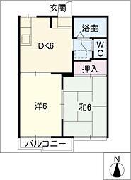 サンコーポ蔵子 B棟[1階]の間取り