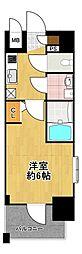 エスリード大阪ドームシティ 9階1Kの間取り