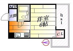 第二三竝マンション[5階]の間取り